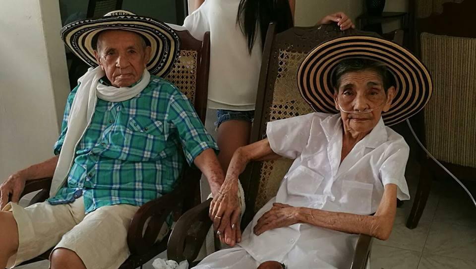Vitaliano Cárdenas y Maria Alicia Aldana.ambos fallecidos este año, en su ultima reunión, al principio de 2017.