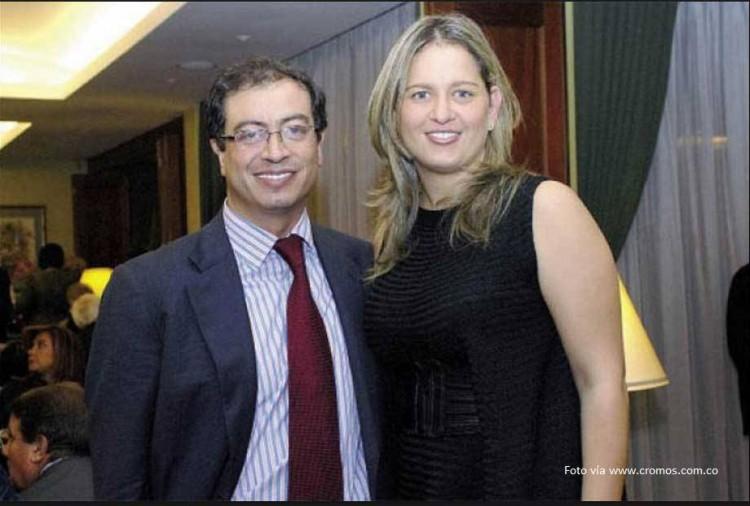 Gustavo Petro, con su esposa sincelejana, Verónica Alcocer
